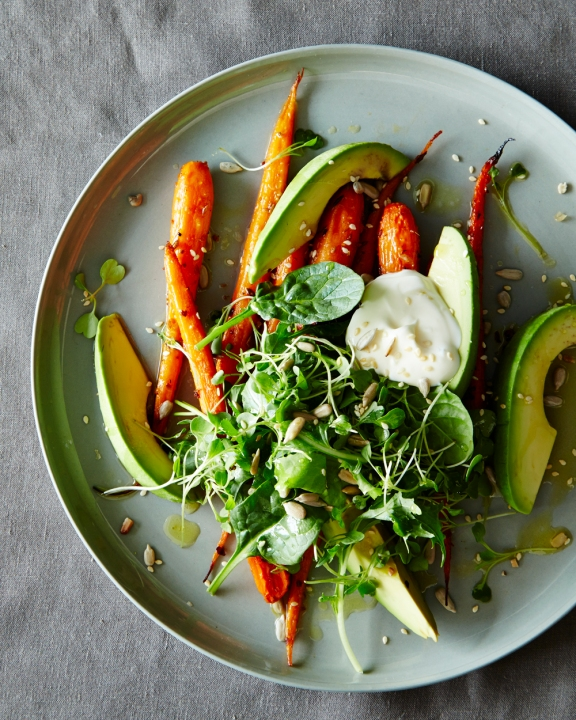 roasted-carrot-avocado-salad