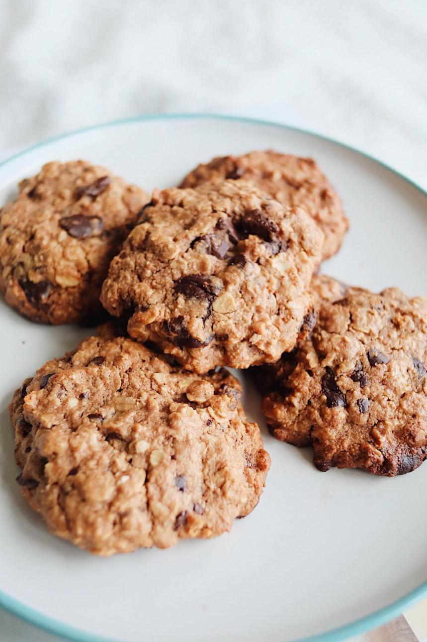 Dark Chocolate Chip Oat Cookies | Farm Girl1