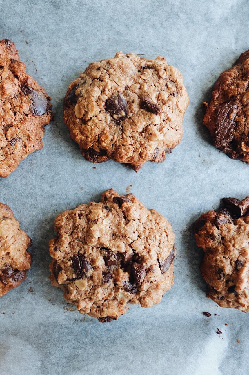 Dark Chocolate Chip Oat Cookies | Farm Girl3